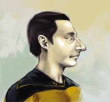 an android in profile by biostasis