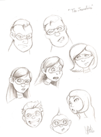 The Incredibles sketches by Silent-nona-light