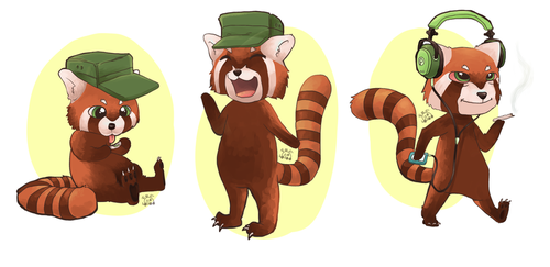 Final mascot designs for TeaHC by Tornadotrailer