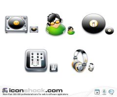 Disck Jockey vista icons by Iconshock