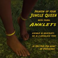 Woman anklets as .OBJ by ancestorsrelic