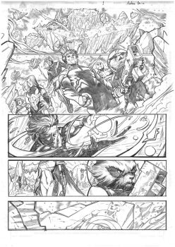 Guardians of the Galaxy sample page#1 pencils by xavor85