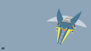 Vikavolt (Pokemon) Minimalist Wallpaper