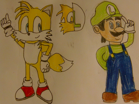 Tails and Luigi by TheOneAndOnlyCactus