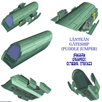 Lantean Gateship by Chiletrek