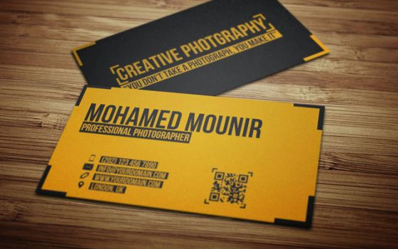 Creative Photography Business Card by mmounirf