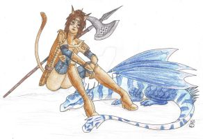 FFXI Katy and Lumiere by Scellanis
