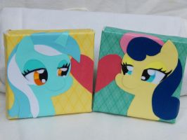 Lyra and BonBon Canvas by GopherFrog