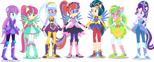 [Request] AU mane 7 [8/7] by LimeDazzle