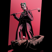 The Joker Playing Golf by MauriceCampobasso