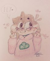 tries to do traditional art by skeleshibe