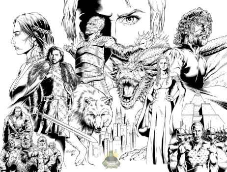 Game of Thrones DPS Inked Version by MannixFrancisco