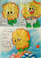 Oh, flowers~ by Creeperchild