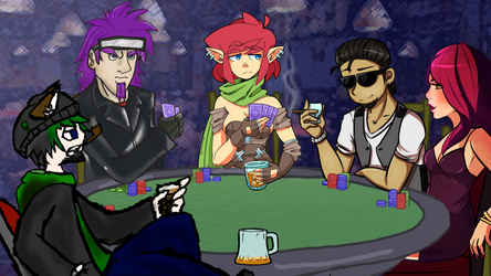 Poker Night at The Sketch Book by ComicmakerJoe