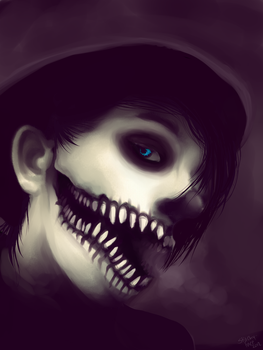 The boy in the black hat. by Stitchy-Face