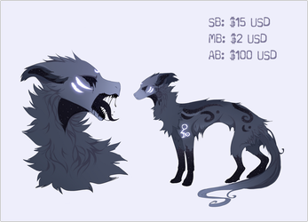 [AUCTION:CLOSED] Canine Adopt 'Star Eater' by Grinu