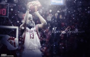James Harden 'Harden Claus' | Wallpaper by ClydeGraffix