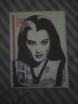 Lily Munster Stickie by MissFord66