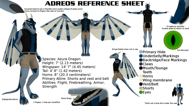 Adreos Refrence Sheet by Adreos