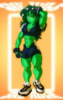 quick draw - she hulk by Gettar82