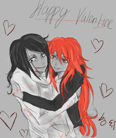 Jeff and Red : Happy Valentine by LacriChan