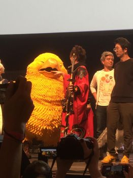 Fat Chocobo Biting Yoshida-San! by calleymacleod