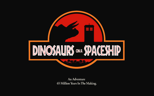 Dinosaurs On A Spaceship in 'Jurassic Park' style by Leda74