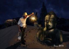 The sands of Buddha by Julianez