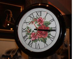 Cross Stitch Clock by XQFashion