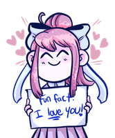 Monika loves u by SebmakesaPun