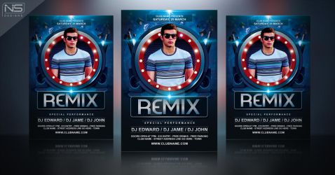 Dj Party Flyer Template by nsdesigns89