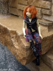 Gabriel at the Waterfall by mrinx