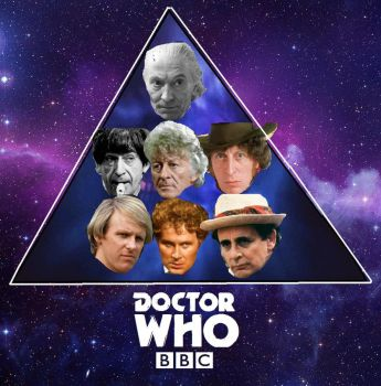 Classic Doctor Who Pyramid Wallpaper by ESPIOARTWORK-102