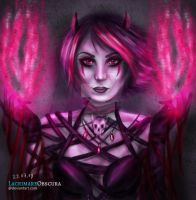Mystel the occultist (Art Trade) by LacrimareObscura