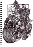 Dredd sketch by jglillustration