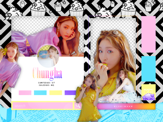 CHUNGHA   BLOOMING BLUE   PACK PNG by KoreanGallery