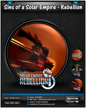 Sins of a Solar Empire-Rebellion - Game Icon Pack by 3xhumed