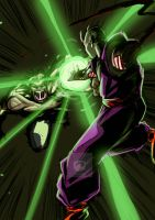 Hulk vs Piccolo by AtariBetch
