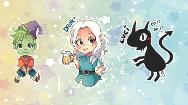 -- Disenchantment chibi set -- by Kurama-chan