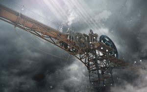 Cloud station. Concept 01. by Shelest