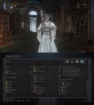 Bloodborne level 120 Ludwig's holy knightess by Deadalivefan
