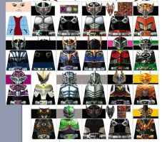 Kamen Rider Ryuki Dragon Knight LEGO Decals by Digger318