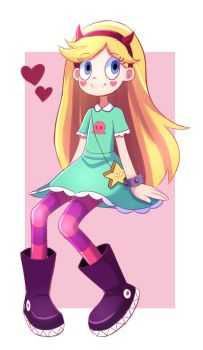 Magical girl Star Butterfly by PencilTales