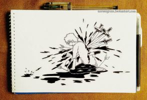 Abounding Pain (Teeming) (Inktober 2017: #13) by NoreenGrace
