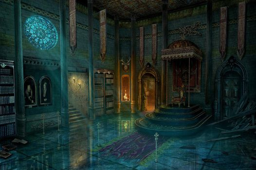 Throne room by Namkoart