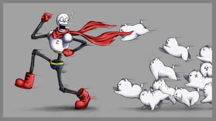 Papyrus and Dogs by BelieveTheHorror