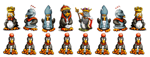 Linux Tux chess set by sethness