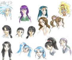 The Cast of Tenchi Muyo by M1NAM1