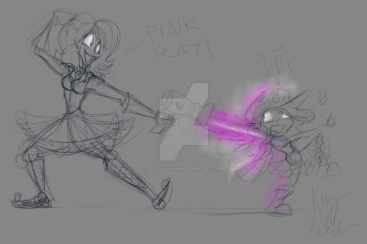 Pink Ray rough sketch by Mad--Munchkin