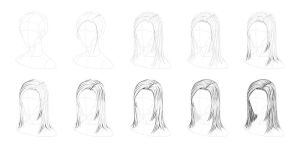 Tutorial - How to Draw Straight Hair by tashamille